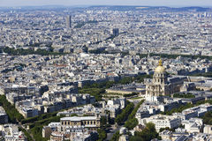 View of Paris, France from Montparnasse. Aerial view of Paris, France from Montparnasse Stock Photos