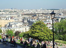 View of Paris. View of the French capital on the part Sacre-Coeur Basilica Stock Images