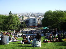 View of Paris. View of the French capital on the part Sacre-Coeur Basilica Stock Photo