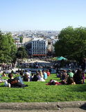 View of Paris. View of the French capital on the part Sacre-Coeur Basilica Royalty Free Stock Photo