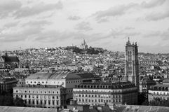 View of Paris from height of bird's flight Royalty Free Stock Photo