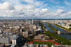 View of Paris from the heights. Stock Images