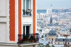 View of Paris from the hill of Montmartre.Paris Stock Photo