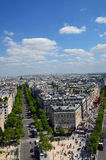 The view of Paris. On May 2014 Royalty Free Stock Photos