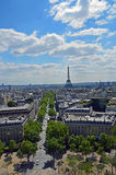 The view of Paris. On May 2014 Stock Image