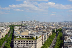 The view of Paris. On May 2014 Stock Photo