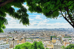 View of Paris from Montmartre area hill. Stock Photo