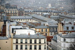 View on Paris from Montmartre Royalty Free Stock Images