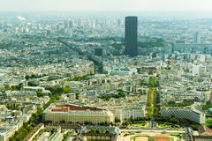 View of Paris with Montparnasse Tower Royalty Free Stock Images