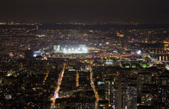 View on Paris at night Royalty Free Stock Image