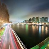 View of Paris by night - France stock images