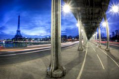 View of Paris by night - France Royalty Free Stock Photography