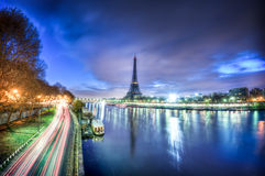 View of Paris by night - France royalty free stock images