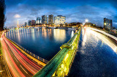 View of Paris by night - France stock photo