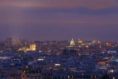 View on Paris at night Stock Image