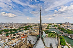 View on Paris from Notre Dame. France Stock Photos