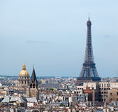 View of Paris from Notre Dame. Royalty Free Stock Photography