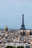 View of Paris from Notre Dame. Royalty Free Stock Photo
