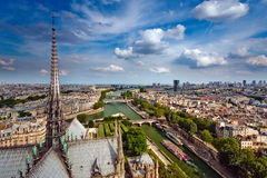 View on Paris from Notre Dame Stock Photos