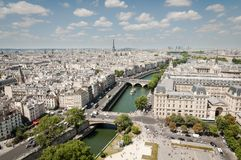 Paris cityscape with Seine royalty free stock images