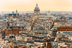 View of Paris with the Pantheon, France. Stock Photos