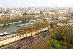 View of Paris and river Seine Royalty Free Stock Photography