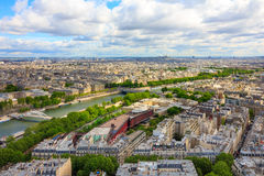 View of Paris, river Seine from the Eiffel tower Royalty Free Stock Image