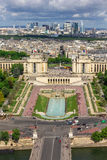 View of Paris - River Seine, the Palais de Chaillot, La Defense Royalty Free Stock Photo
