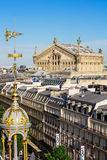 View of Paris from the roof of Printemps Department Store Royalty Free Stock Photos