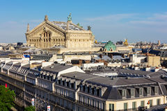 View of Paris from the roof of Printemps Department Store Royalty Free Stock Images