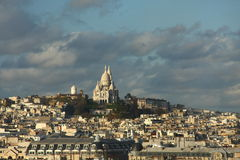 View of Paris with Sacre Coeur. At Montmartre in the background Royalty Free Stock Photography
