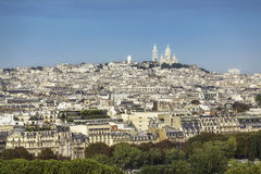 View of Paris with Sacre Coeur Basilica Royalty Free Stock Photo