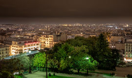 View of Paris from the Sacre-Coeur Basilica in France. Stock Photography