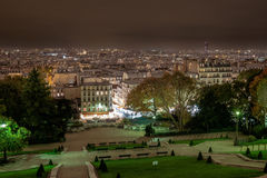 View of Paris from the Sacre-Coeur Basilica in France. Royalty Free Stock Photography