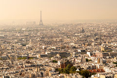 View of Paris from the Sacre Coeur Royalty Free Stock Photo