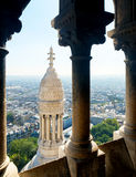 View of Paris from the Sacre Coeur Stock Photography