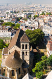 View of Paris from the Sacre Coeur Stock Photo