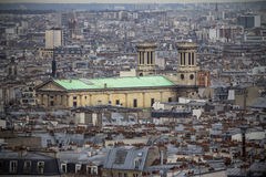 View of Paris from the Sacre Coeur Royalty Free Stock Photography