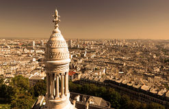 View of Paris from the Sacre Coeur Stock Images