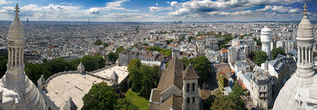 View of Paris. Sacre Couer. Panorama from Sacre Couer in Paris royalty free stock image
