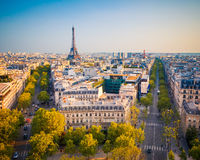 View on Paris at sunset Stock Photo