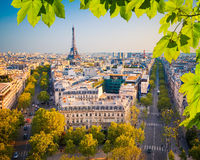 View on Paris at sunset Stock Images