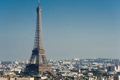View on Paris at sunset Royalty Free Stock Image