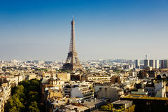 View on Paris at sunset Royalty Free Stock Images