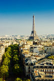 View on Paris at sunset, Royalty Free Stock Photos