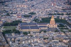 View of Paris at sunset, France Stock Images