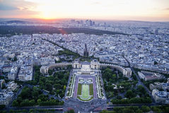 View of Paris at sunset, France Stock Image