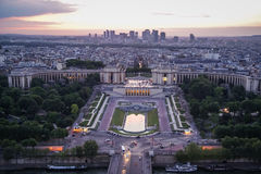 View of Paris at sunset, France Stock Photo