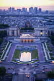View of Paris at sunset, France Royalty Free Stock Photo