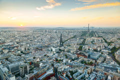 View of Paris at sunset Royalty Free Stock Photography